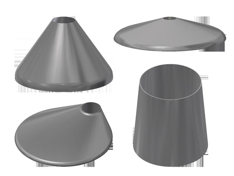 Kegel und konische Tankköpfe torikonisch exzentrisch konzentrisch