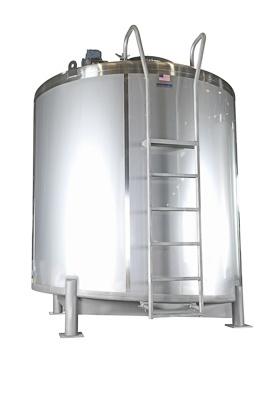 Kundenspezifischer Lebensmittel-Lagertank mit Schrägboden