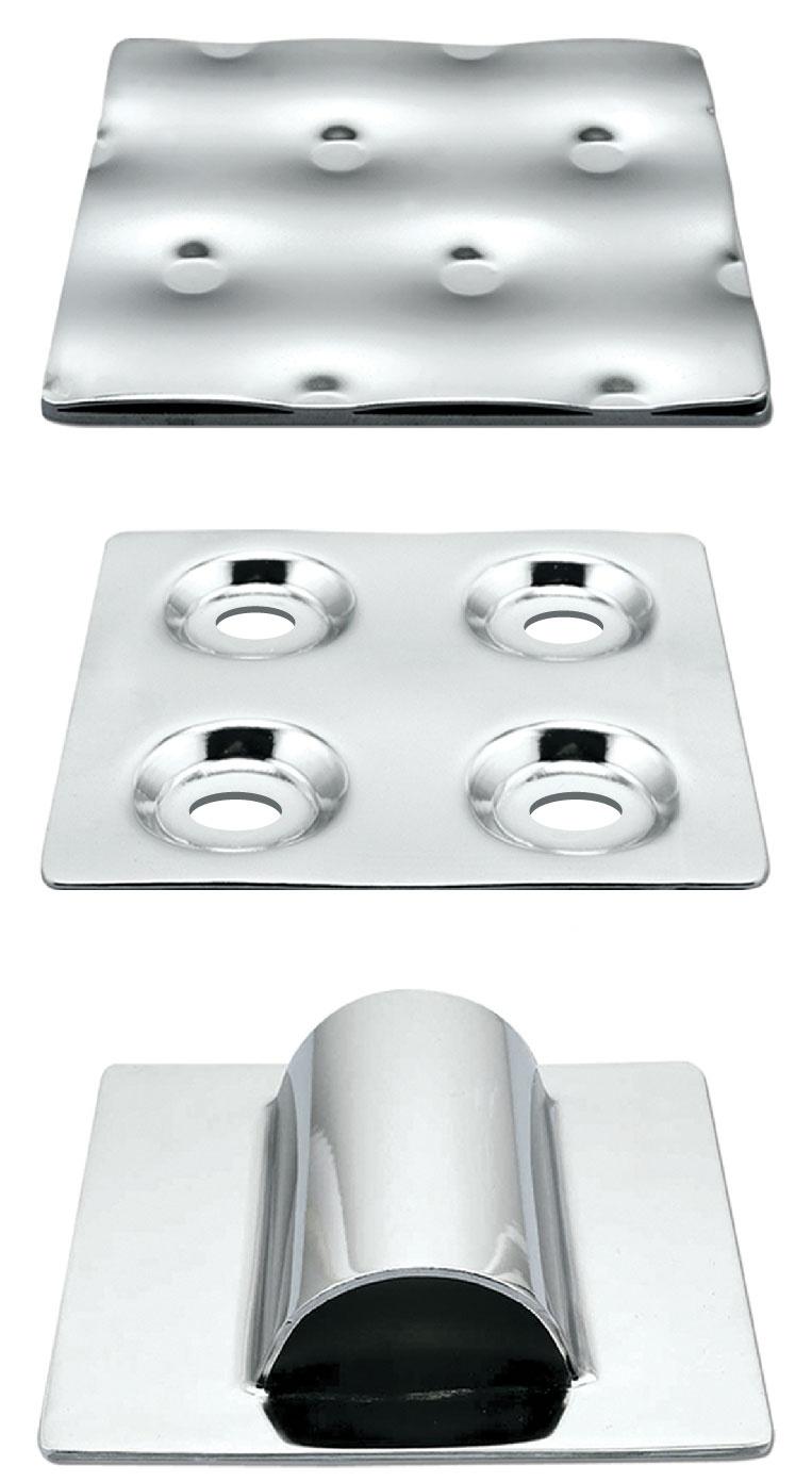 Temp-Plate mit geprägter Haube und Halbrohr-Wärmeübertragungsoberflächen